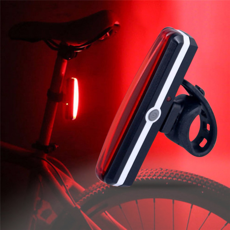 Electric Ebike Taillight USB Rechargeable Cycling Rear LED Taillight Waterproof MTB EBike Taillight Lamp For Bicycle Accessories