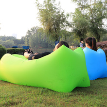 Saco de dormir bolsa de descanso tumbona Camping al aire libre impermeable Picnic playa inflable aire sofá cama Beanbag Pad Lounge silla Laybag