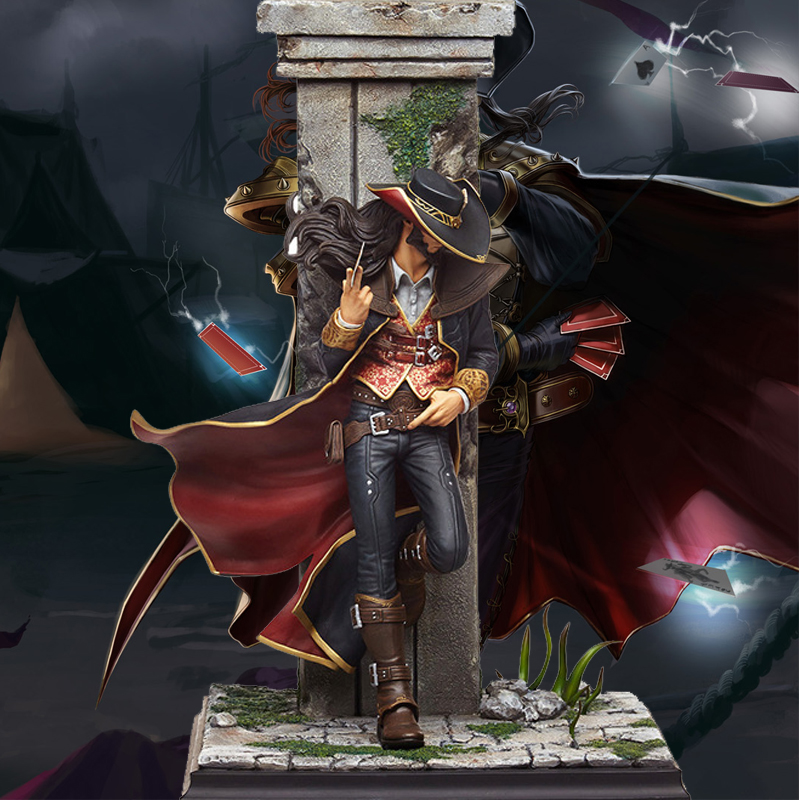 LOL League Game Twisted Fate Action Figure Resin Decoration Statue Model