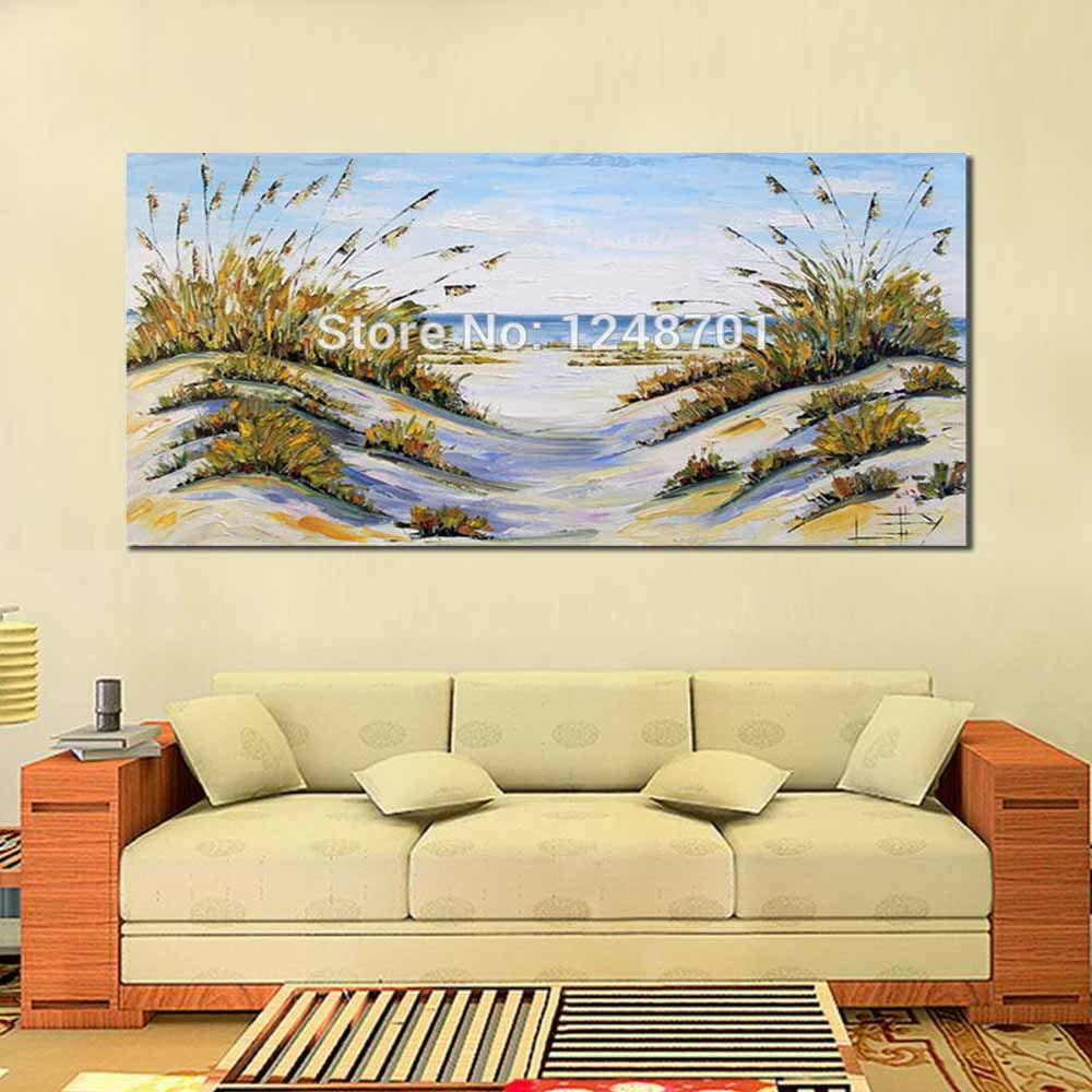 Large Size Abstract Beach Decor Coastal Art Ocean Oil Painting ...
