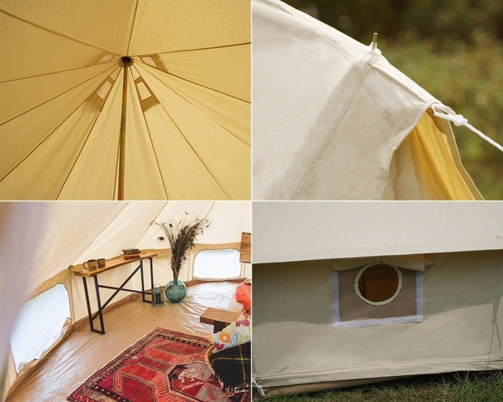 DANCHEL 4M 5M Cotton Canvas Bell Tent Stove Jacket on the wall with Flame retardant material-in Tents from Sports u0026 Entertainment on Aliexpress.com ... & DANCHEL 4M 5M Cotton Canvas Bell Tent Stove Jacket on the wall ...