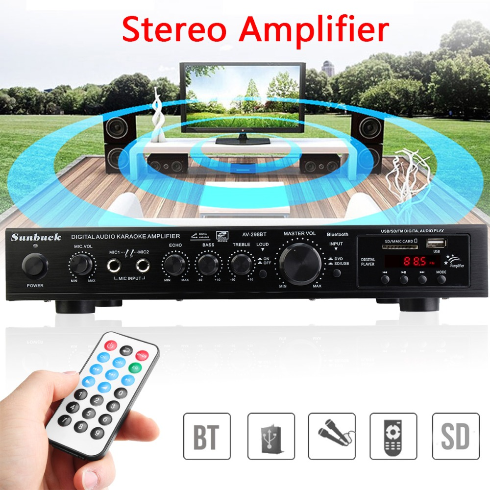 220V 300W+300W+120W 5CH Bluetooth Stereo AV Surround Amplifier Karaoke Cinema PA High Power Digital Audio Amplifier цены