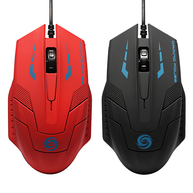High Quality Adjustable USB Wired Optical Gaming Mouse/Mice 2400DPI Adjustable For PC Computer Office User Black Red 2 Colors