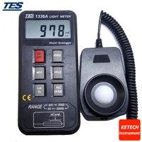 Datenaufzeichnung gehören Licht Meter RS232-0 ~ 20000 Lux/Fc TES1336A