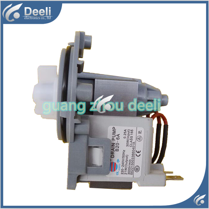new for parts DC31-00030A = B20-6A = B20-6 drain pump motor 30W good working 1pcs new parts drain pump bpx2 8 drain pump motor good working