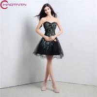 2017 Designer Short Black White Chiffon Cocktail Dresses Mini A Line Knee Length Homecoming Party Dresses