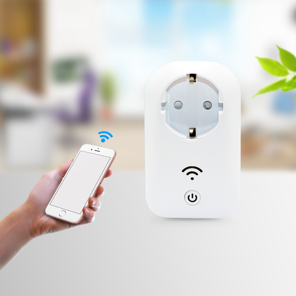 все цены на 2018 new arrrival fashion smart home EU Standard 16A White Wifi Smart Plug Power Socket App Wireless Remote Control Wall Plug