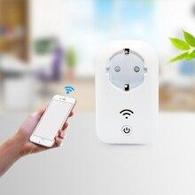 2018 new arrrival fashion smart home EU Standard 16A White Wifi Smart Plug Power Socket App Wireless Remote Control Wall Plug