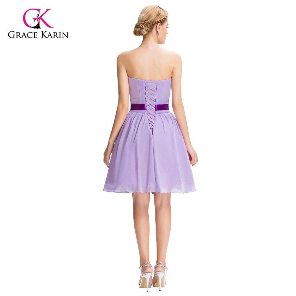 Modest Cheap Purple Bridesmaid Dresses under 50, Chiffon Short ...