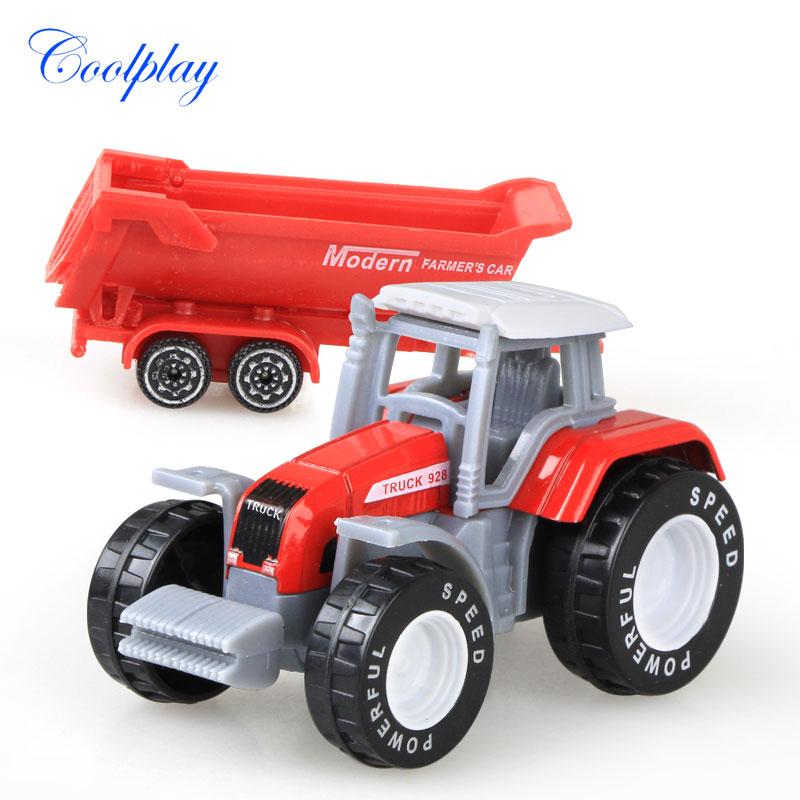 Die-cast Farm Vehicles Mini Car Model Engineering Car Model Tractor Engineering Car Tractor Toys Model for Kids Xmas Gift 4