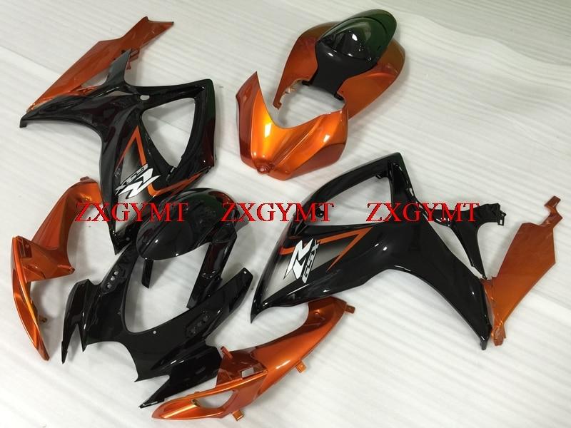 Abs Fairing for GSXR 600 2006 - 2007 K6 Full Body Kits GSX R 750 07 Orange Black Fairing for Suzuki GSXR750 2007Abs Fairing for GSXR 600 2006 - 2007 K6 Full Body Kits GSX R 750 07 Orange Black Fairing for Suzuki GSXR750 2007
