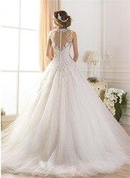 wuzhiyi wedding dress Princess Lace wedding gown Scoop bridal gown Luxury white gown sleeveless vestido de novia Vintage wedding 3