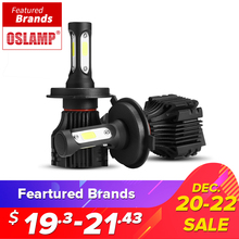 Oslamp 72 Watt COB LED Auto Scheinwerferlampen H4 H7 H11 H1 H3 9005 9006 9007 hallo-Lo Strahl 8000lm 6500 Karat Auto Scheinwerfer Nebelscheinwerfer DC12v 24 v