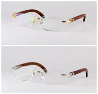 Free Shipping High Quality Men S Classics Optical Frames Metal Rimless Myopia Eyewear Frame 3524012 Eye