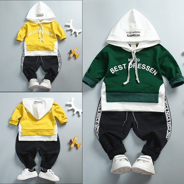 72fe0efe3 Autumn Baby Girl Boy Clothing Set Toddler Infant Clothes Suit Casual ...