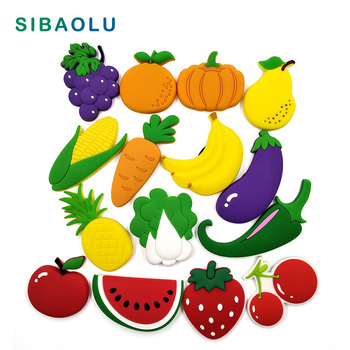 Vegetable Fruit silicone fridge magnets Bicycle whiteboard love sticker Refrigerator Magnet Kids Message post Home Decoration 1