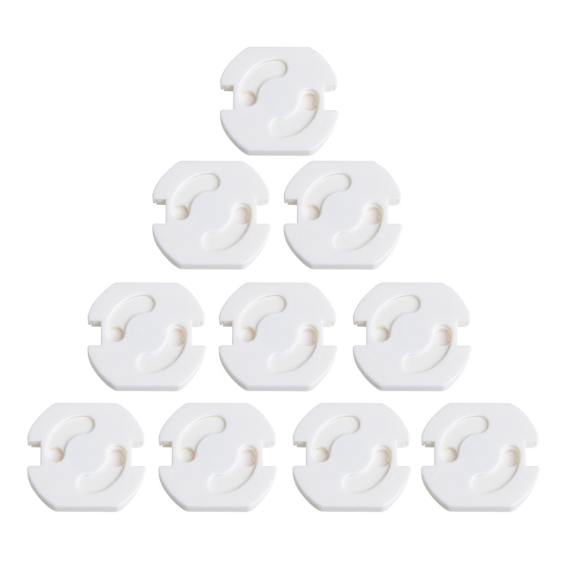 10Pcs Baby Socket Protection Cover Mains Plug Socket Cover Baby Proof Child Safety Plug Guard Protector 2 Hole