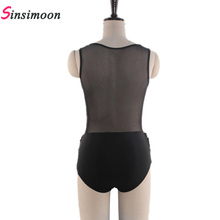 Black Swimsuit Mesh High Neck One Piece Swimwear High Neck Swim suit White Monokini Fold Bathing Suits for Women Bodysuit