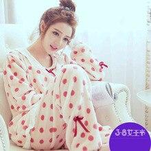 Пижамы из кораллового флиса для беременных женщин, осенне-зимние комплекты для кормящих, послеродовые, han edition to go lili, утепленные и шерстяные зимние