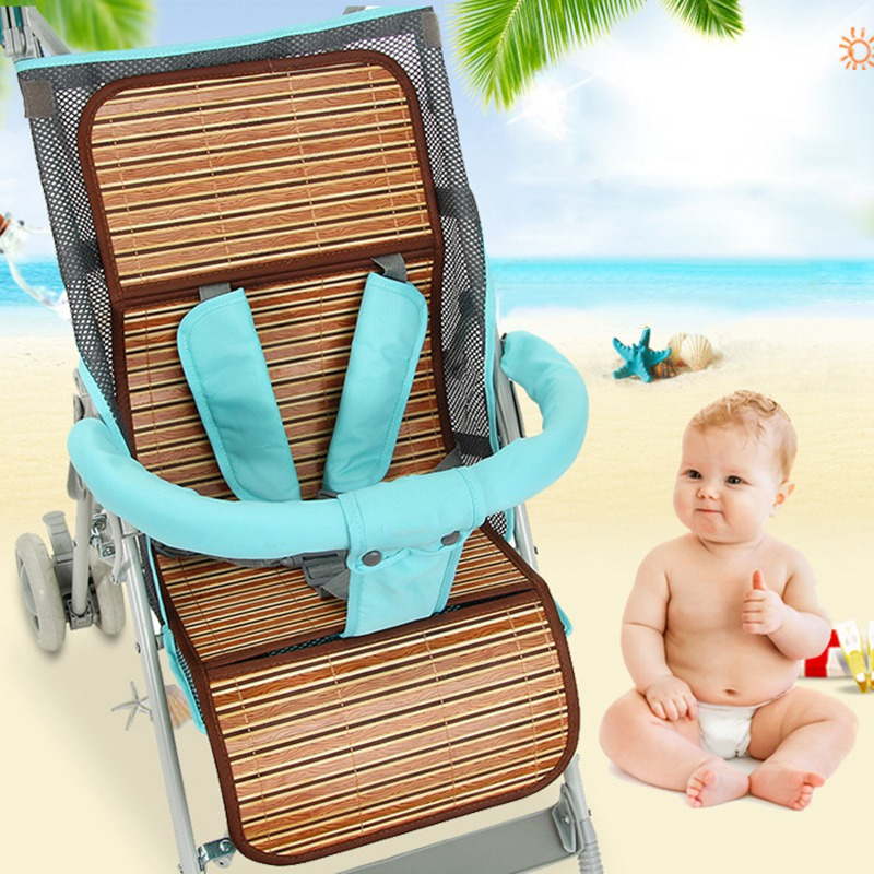 Summer Baby Stroller Mat Foldable Chair Mat for Infant Baby Carriage Breathable Cushion Pad Baby Cool Mat Stroller Accessories