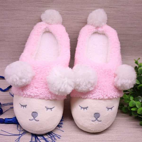 1pair Women Home Slippers  Cute Sheep Animal Slippers For Couple Indoor Bedroom Female Shoes Winter Short Plush Slipper1pair Women Home Slippers  Cute Sheep Animal Slippers For Couple Indoor Bedroom Female Shoes Winter Short Plush Slipper