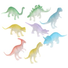 8 pcs Glow In The Dark Noctilucent Dinosaur Figure Toy Gift For Children Kids(China)