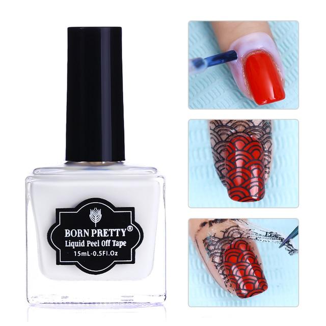 BORN PRETTY Fruity Odor free Peel Off Liquid Tape Nail Latex Cuticle ...