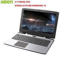"Bben G16 15.6 ""Win10 Ноутбук игровой компьютер Intel I7-7700HQ Процессор NVIDIA GTX1060 6 г ОЗУ 1920 * 1080FHD 16 г DDR4 256 г SSD 2 ТБ HDD PC"