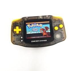 쓰자 게임 소년 GBA 콘솔 AGS-101 백라이트 화면 콘솔 클리어 블랙 쉘 노란색 버튼