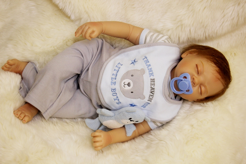 55cm Sleeping Accompany Kids Baby Dolls Newborn Reborn Doll for Kids Toys Boy Girl Growth Partners Playmate Juguetes Babes Gifts partners cd