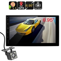2 DIN Android Media Player Android OS Bluetooth Hands Free GPS Navigation Rearview Backup Camera
