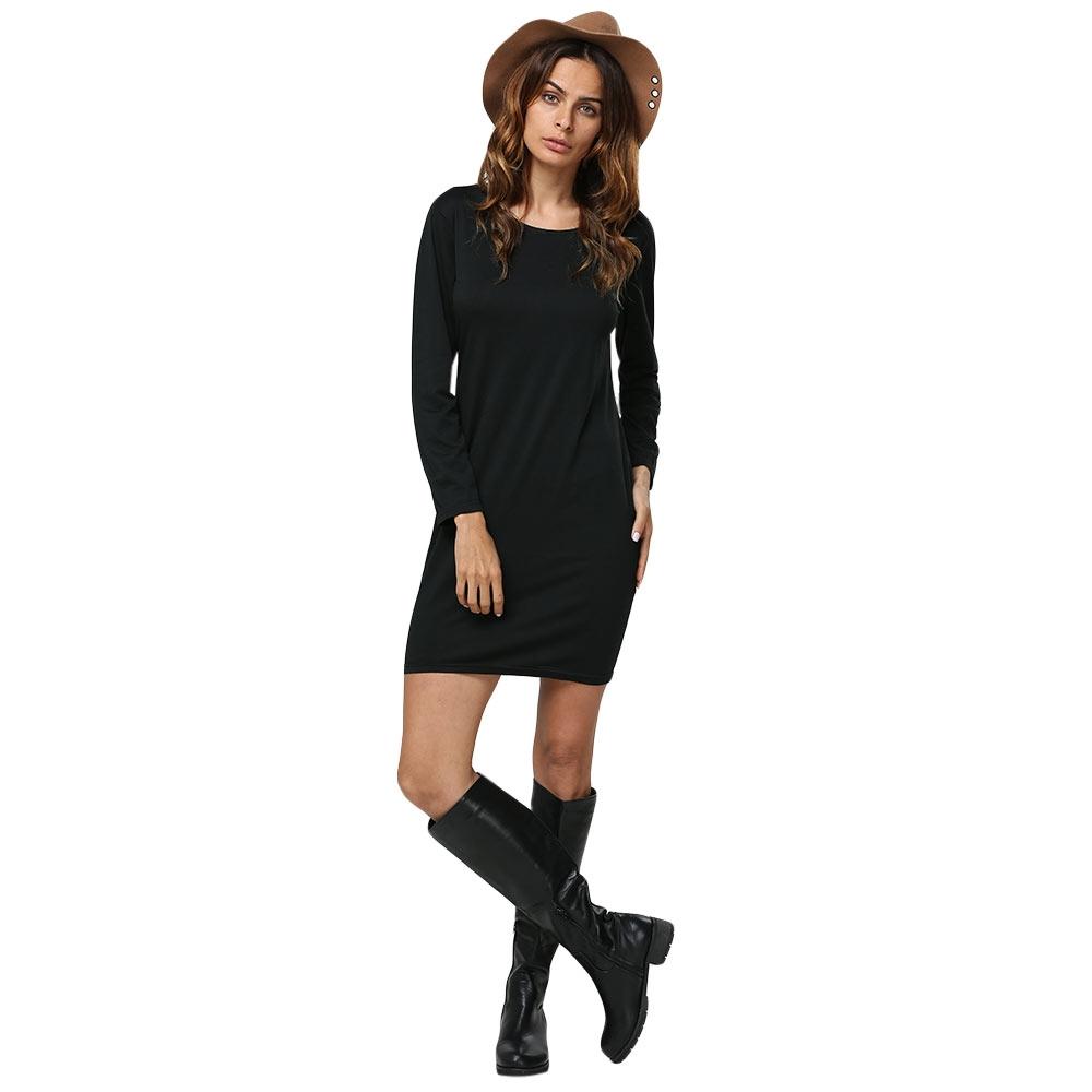 VESTLINDA Women Autumn Black Punk Rock Hollow Out Dress Long Sleeve Hip Hop Skull Cut Out Short Mini Dress Sexy Club Vestidos 4