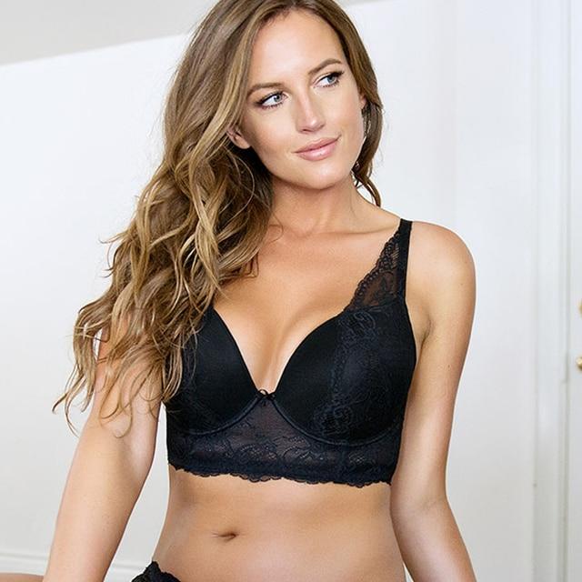 Women Big Breast Bra Sexy Lacy Women Bra 34 Cup Underwire -3961
