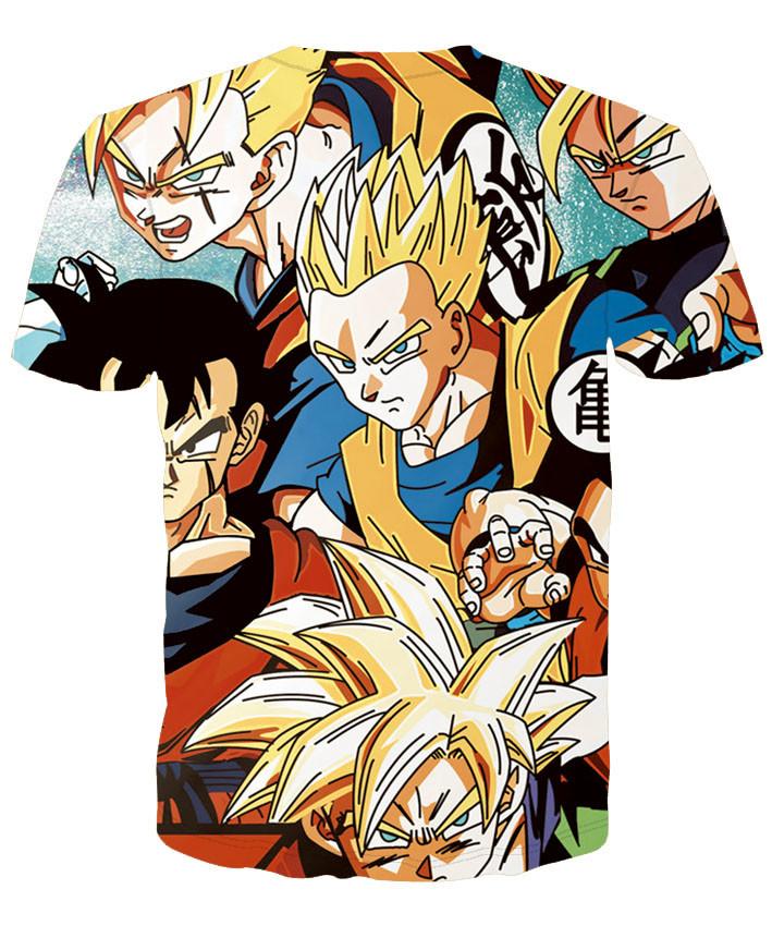 Harajuku classic cartoon dragon ball t shirt super saiyan armour 3d t shirt men anime goku vegeta t shirts DBZ tees summer tops 43