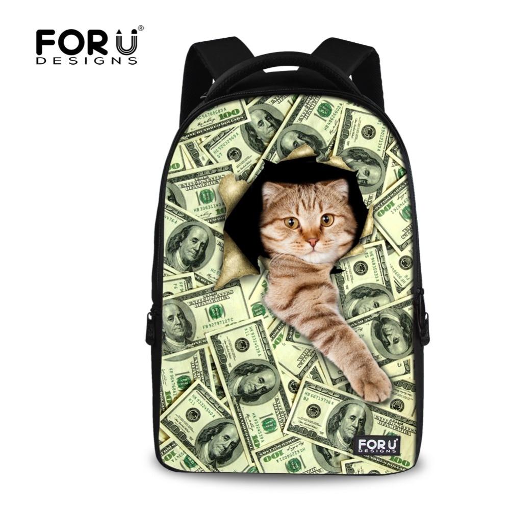 ФОТО Student Laptop Backpacks Cute Cat School Bag Large Capacity Female Casual Computer Backpacks For Travel