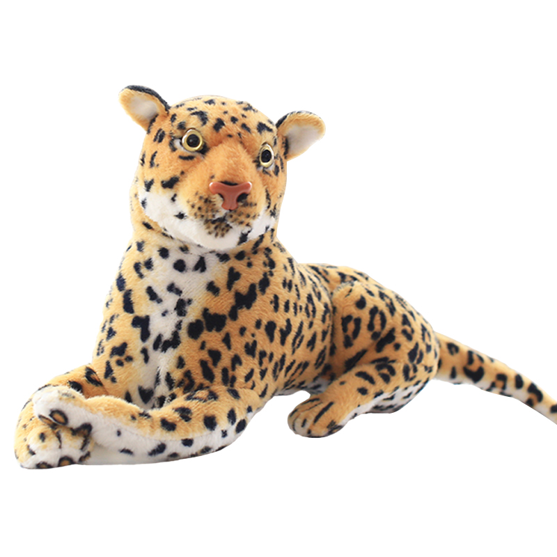 1pcs 30cm Simulation Leopard Panther simulation animal gift plush high quality classic toys for children gift