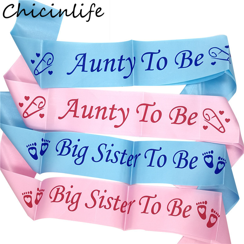 Baby Shower Sash Party Decoration Mom To Be//Grandma//Auntie//Nanny//Sister Bluelans
