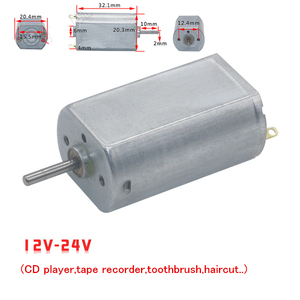 FF-180SH dc motor 12V 24V DIY electric toys intelligent toy car (CD player,tape recorder,toothbrush,haircut..)(China)