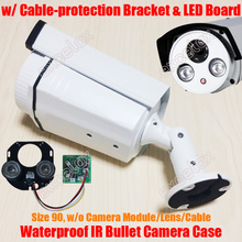 Wodoodporna kamera typu bullet IR obudowa i matryca led płyta i wspornik rozmiar 90 obudowa ze stopu aluminium osłona przeciwsłoneczna IP66 obudowa zewnętrzna
