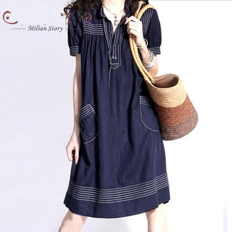 New Summer Style Fashion Brand Women Dresses Plus Size
