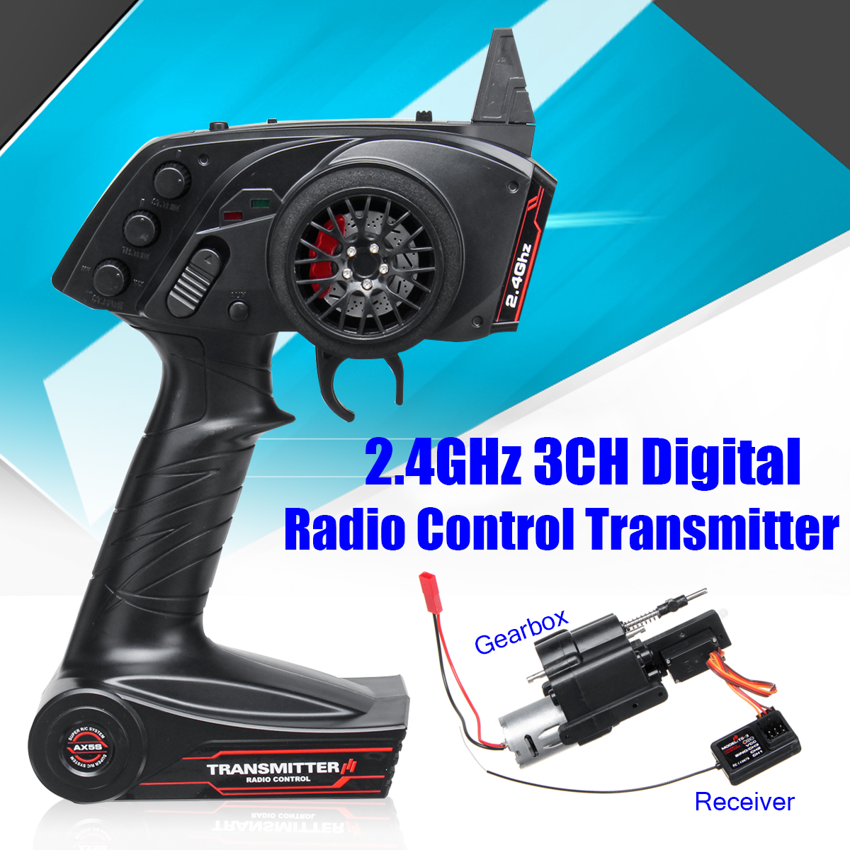 3CH Radio Transmitter Super Active Throttle Limit Range And Speed Change Gear Box For WPL B1 B24 B16 C24 1/16 4WD 6WD Rc Car