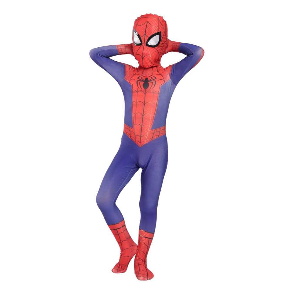 Anak-anak Spider-Man Peter Parker Cosplay Kostum Halloween Kostum untuk Anak Spiderman Kostum