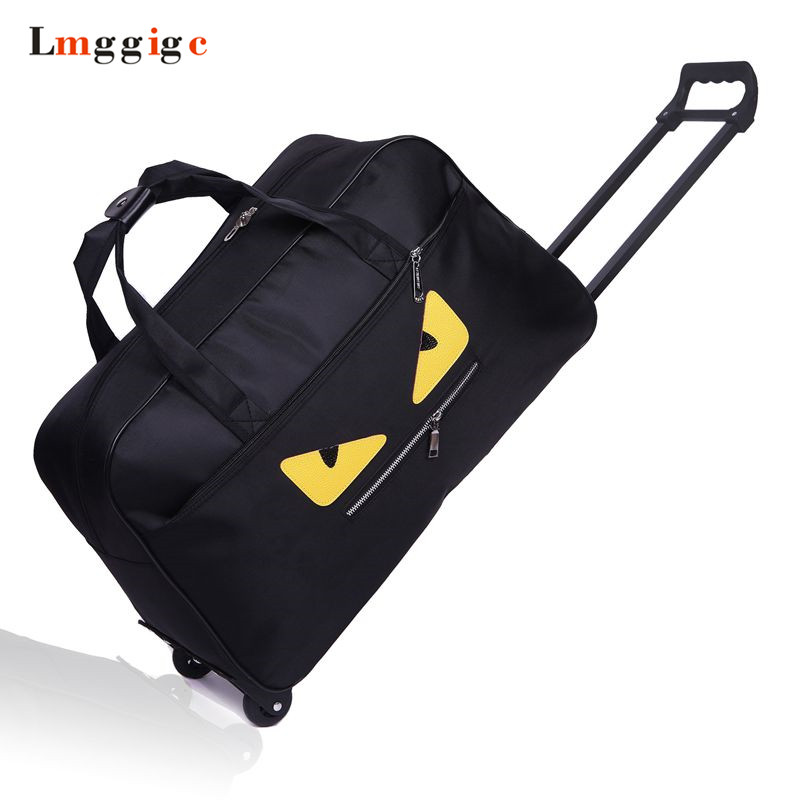 цена Cabin Luggage Bag,Portable Suitcase,Waterproof Oxford cloth monster Travel Trolley Dragboxes,Large capacity Handbag with wheels