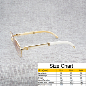 Image 5 - Vintage White Black Buffalo Horn Sunglasses Men Round Natura Wood Eyewear for Woemn Outdoor Clear Glasses Frame Oculos Shades