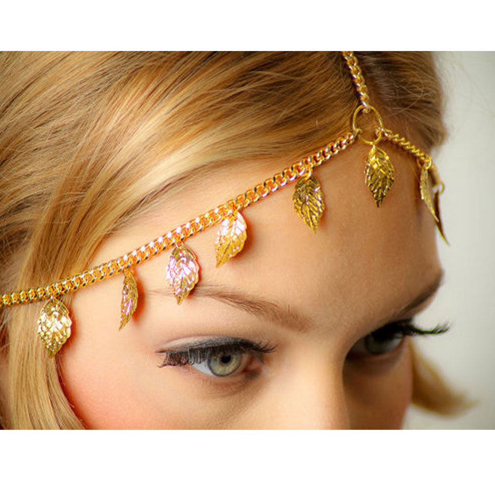 Romantic Crown Indian Style Hair Jewelry Accessories Head Chain Bohemia Leaves Forehead  ...