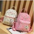 Hola niños del gatito mochilas escolares para las niñas bolsa de la escuela mochila impermeable cat escuela mochila niños bolso precioso bebé de la pu bolsa