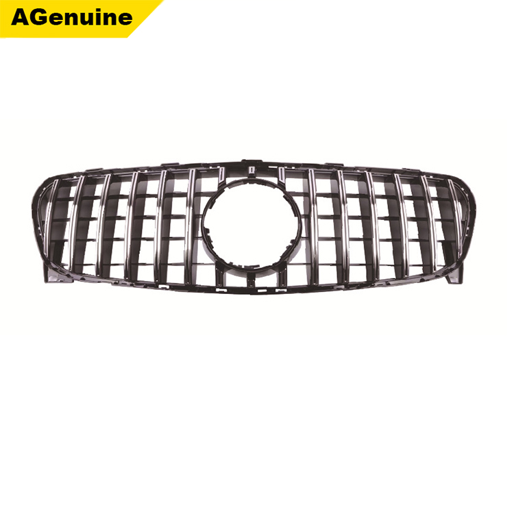 Chrome Auto Front Grill Grille Mesh For Mercedes Benz B: Chrome Glossy Black ABS GT Style Facelift Car Front Bumper