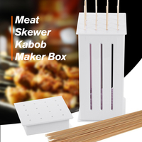 Original Portable ABS 16 Hole Meat Skewer Kabob Maker Box Multi Purpose Non Toxic Barbecue Kebab