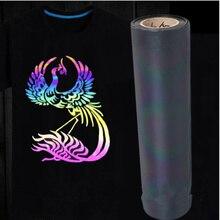 50 см x 300 см голографическая цветная пленка для передачи тепла виниловая железная пленка цвет хамелон 20 ''x 118''