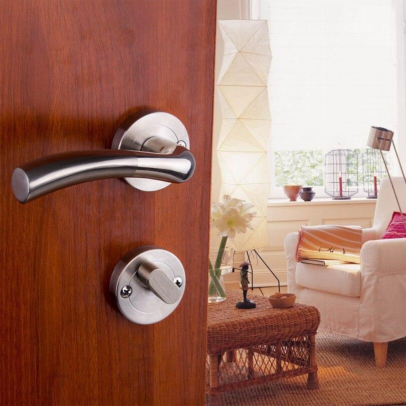 304 stainless steel interior door lock handle locks Door Lock Mechanical doors steel door Continental Separate lock-in Locks from Home Improvement on ... & 304 stainless steel interior door lock handle locks Door Lock ...